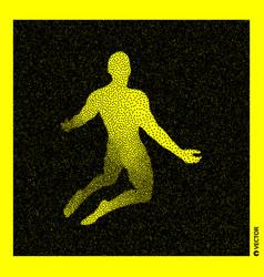 Man who prays 3d human body black yellow design vector