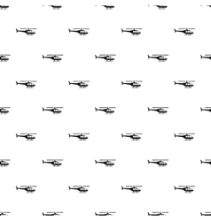 Military helicopter pattern simple style vector image