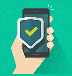 mobile phone security protection vector image