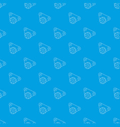 motor pattern seamless blue vector image