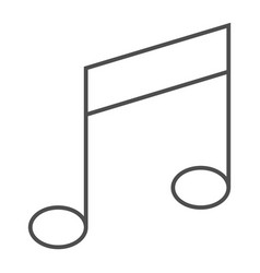 music note thin line icon musical and sound vector image