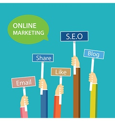 Online marketing concept flat design vector