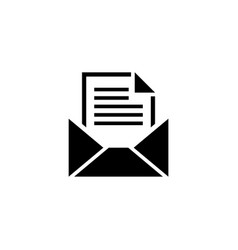 open mail envelope flat icon vector image