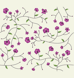 Orchid flower pattern vector
