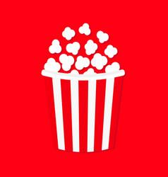 popcorn cinema movie night icon big size strip vector image