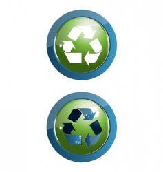 recycle icon illustration on w vector image