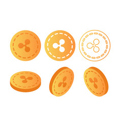 ripple cryptocurrency blockchain flat vector image