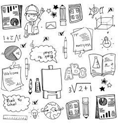School sketch doodles art vector