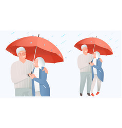senior family protection concept elderly couple vector image