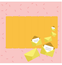 Set closed and open envelopes with paper tucked vector