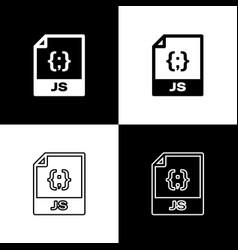 Set js file document icon download js button vector