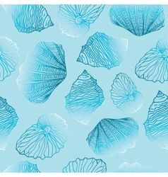 Shells Seamless pattern Template vector image