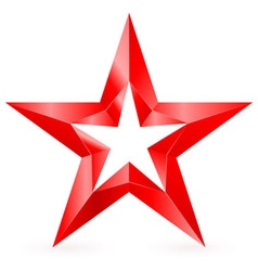 Shiny RED star 03 vector image