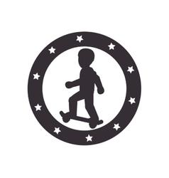 Skate Extreme sport athlete avatar vector