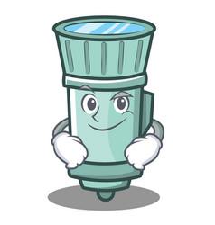 Smirking flashlight cartoon character style vector