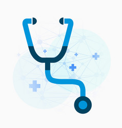 stethoscope bright background medical concept vector image