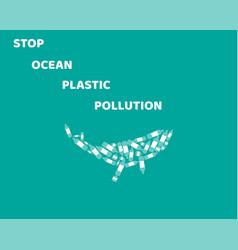 stop ocean pollution vector image