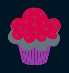 Sweet dessert in flat design muffin vector