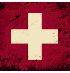 Swiss flag Grunge background vector image