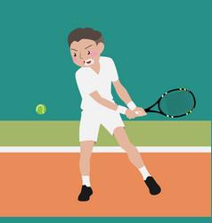 Tennis athletic sport cartoon set vector