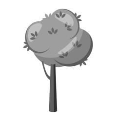 Tree with spherical crown icon vector