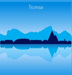 Tromso skyline vector