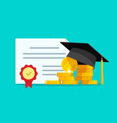 tuition grant certificate education study money vector image