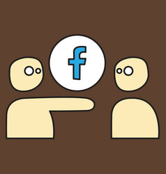 Unusual look facebook logotype social network vector