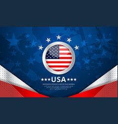 usa background for independence vector image