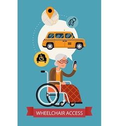 Wheelchair Access Transport Poster vector image