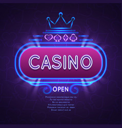 abstract bright vegas casino banner with neon vector image