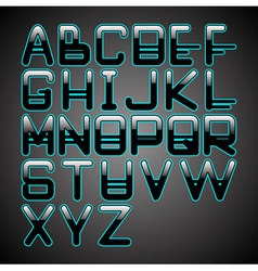 blue glow font vector image vector image
