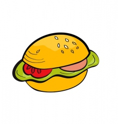 cartoon hamburger vector image
