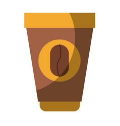 Colorful silhouette of disposable cup with hot vector