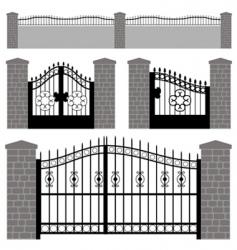 gate doors vector image vector image
