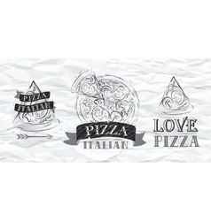 Pizza logo Paper vector image vector image