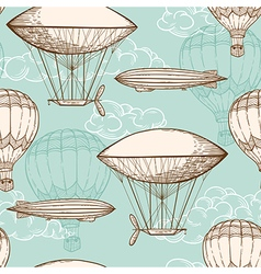 Vintage seamless pattern with air balloons vector image vector image