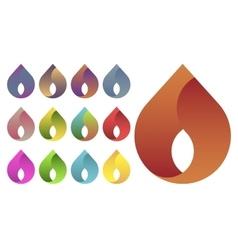 Water drop logo set vector image vector image