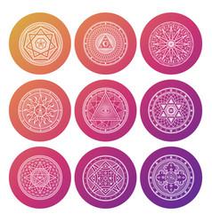White occult mystic spiritual esoteric bright vector