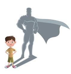 Boy Superhero Concept 2 vector image vector image