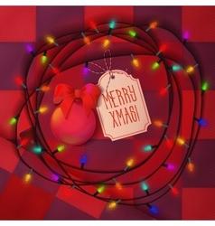 Christmas balls lamp festive garland for holiday vector image vector image