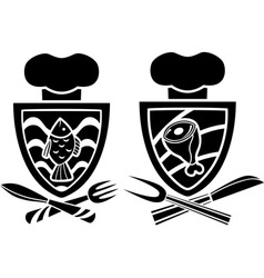 Culinary emblem two variants vector image