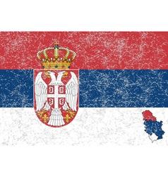 Serbian flag vector image
