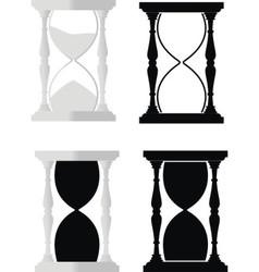 set of hourglass vector image vector image