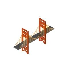 Bridge icon isometric 3d style vector image vector image