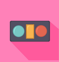 eye shadow in box from beauty salon vector image