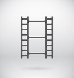 Flat movie film strip light icon symbol background vector
