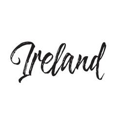 ireland text design calligraphy vector image