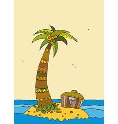 Island Sea Coco Chest vector image