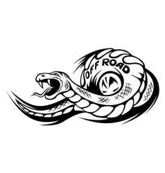 Offroad snake tattoo vector image vector image